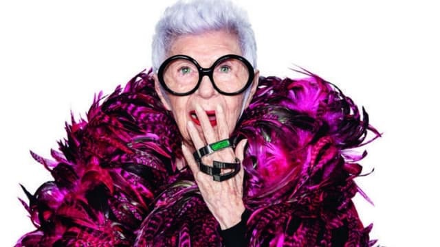 Iris Apfel for WiseWear.