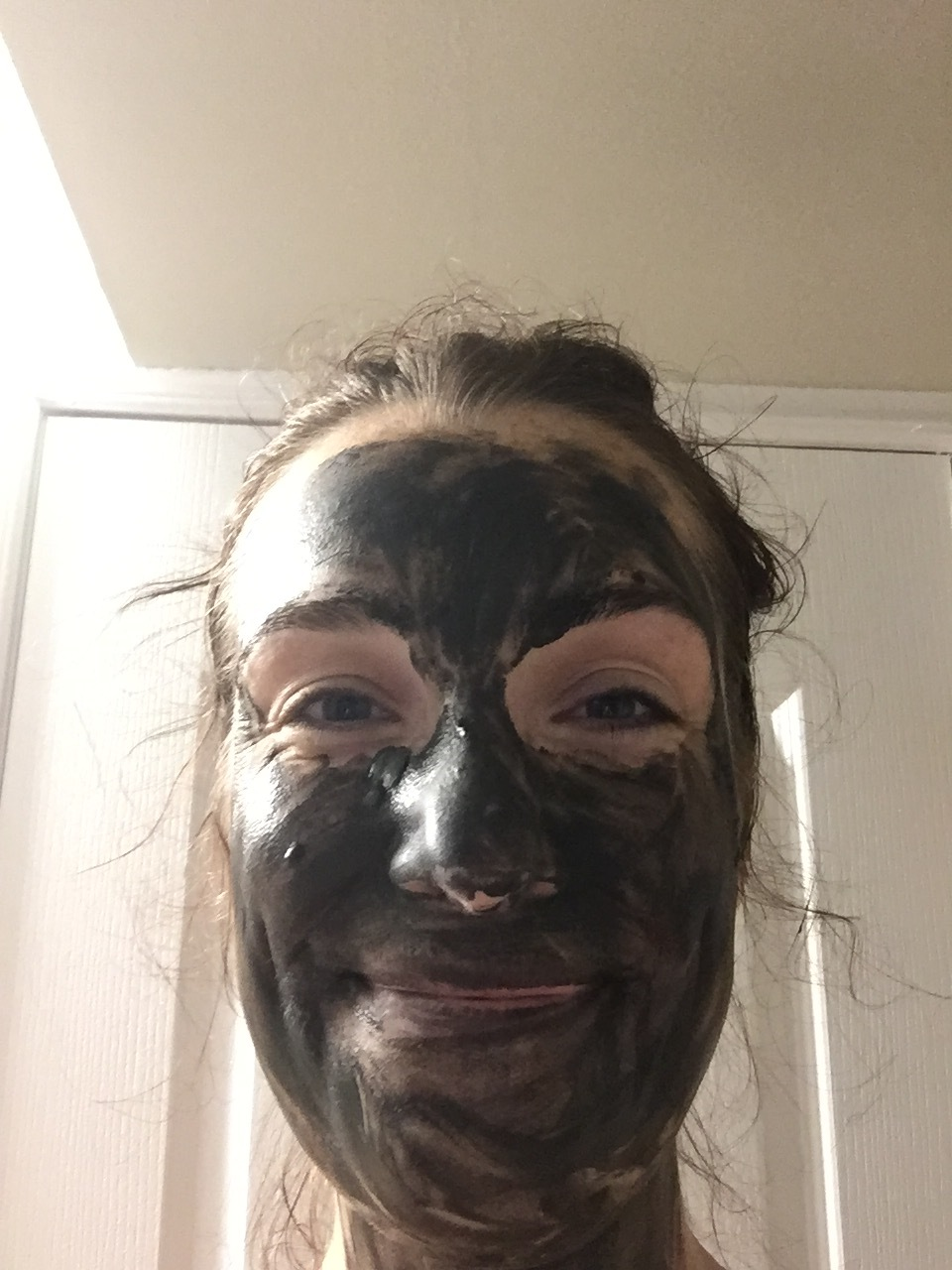 Wearing Northlore's Plains Mud Mask.
