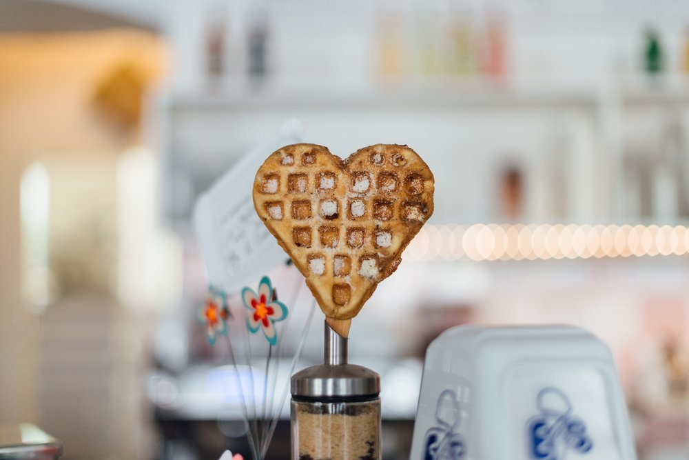 Ok, so this waffle might be love.  From Roman Kraft at Unsplash.