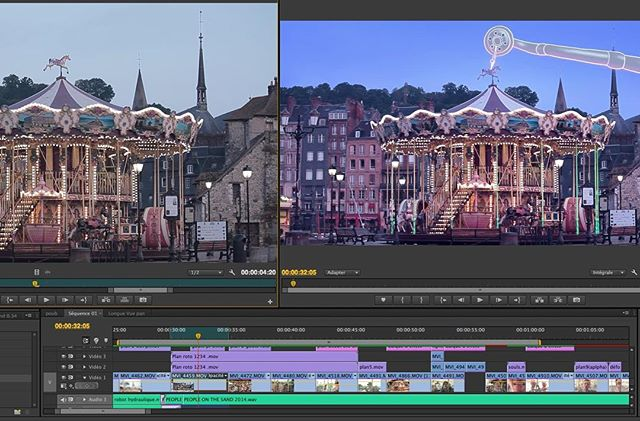 #etalonnage #fx #rotoscoping #animation #mixedmedia #music video #clip #honfleur #carrousel #alterk
