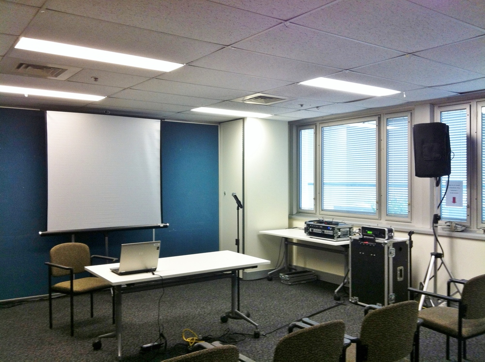 Our presenter system set up for a government department briefing