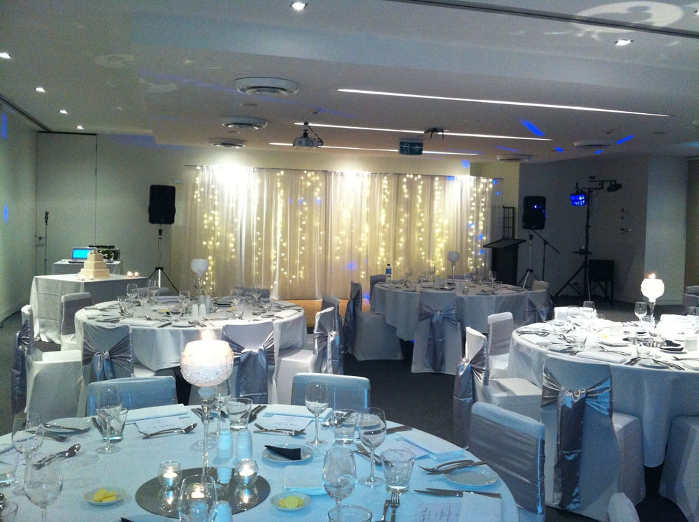 Music system and FX lighting at RACV, Noosa for wedding reception