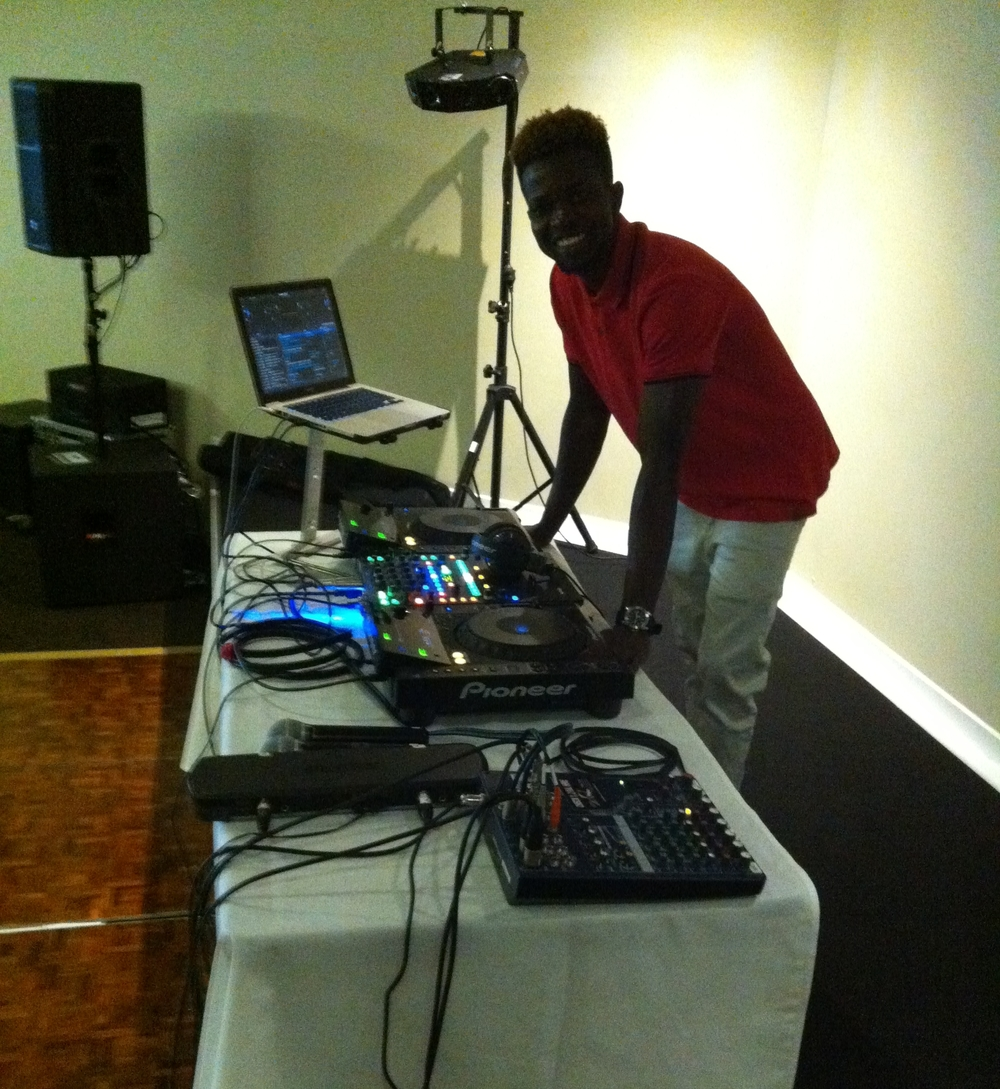 DJ Issa with our Standard DJ system
