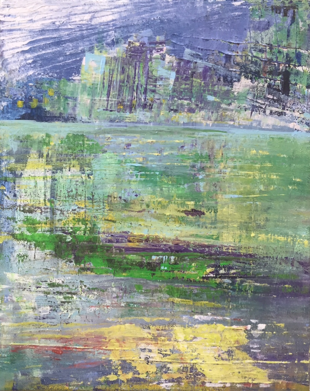 Lake 2015 - Acrylic on Canvas  - 40x50cms