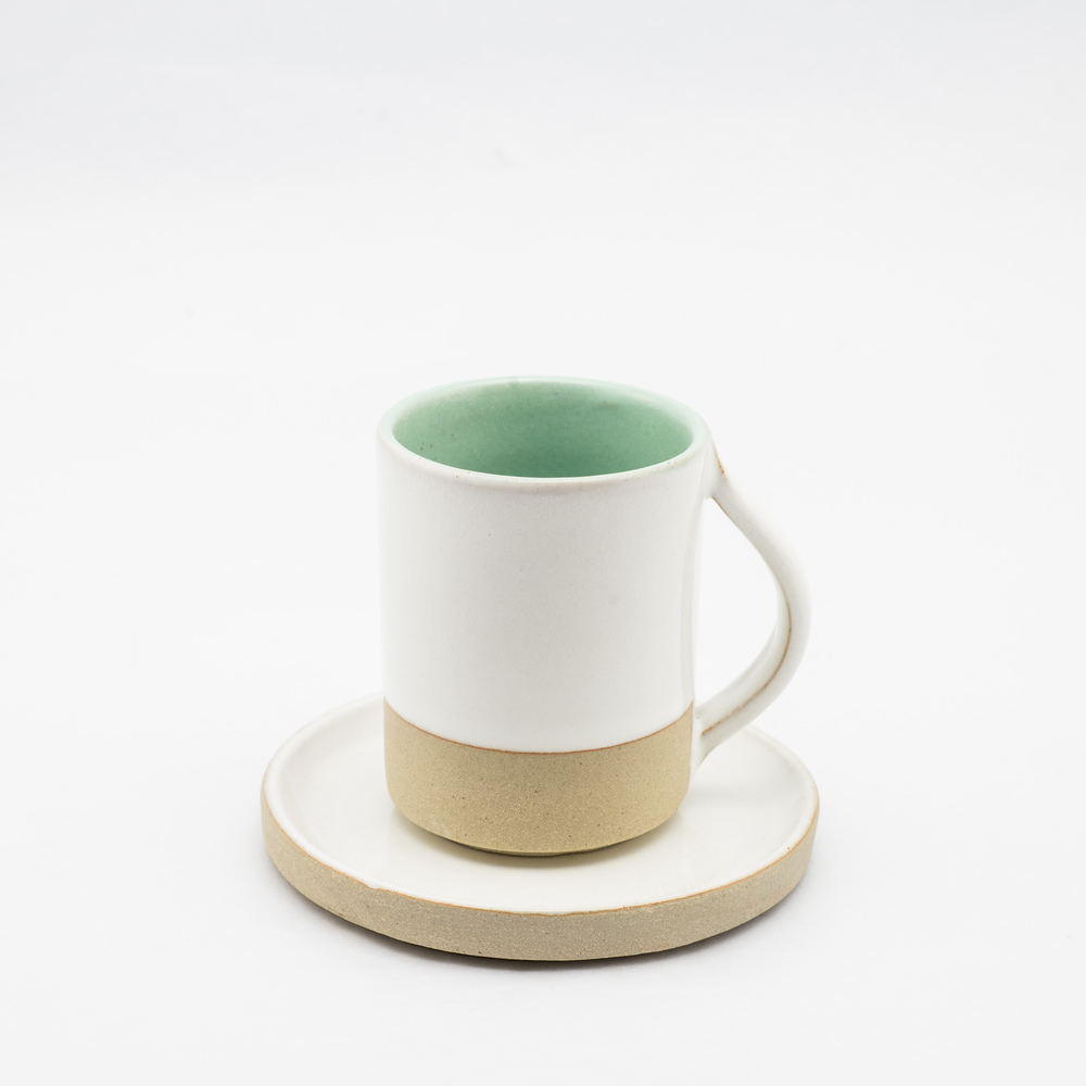 French Ceramic White Cup & Saucer £21.00