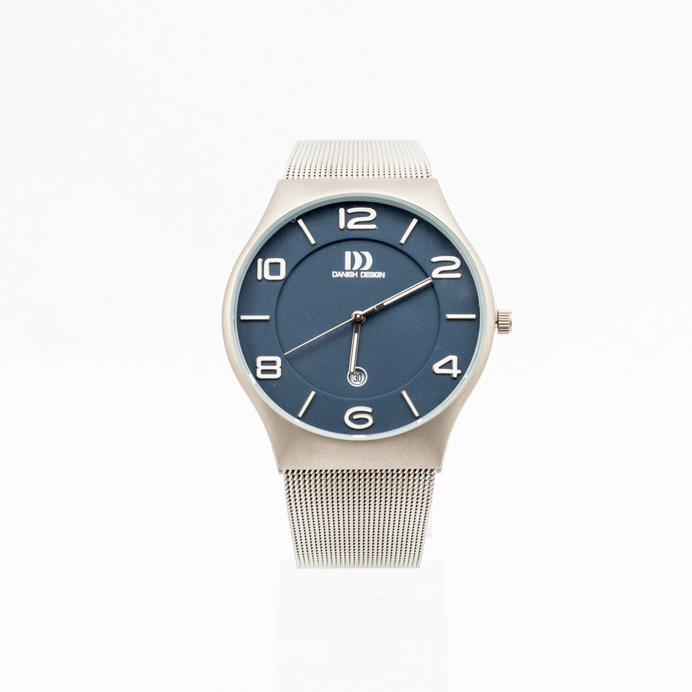 Danish Design Watch Silver Metal Strap & Blue Face £120.00