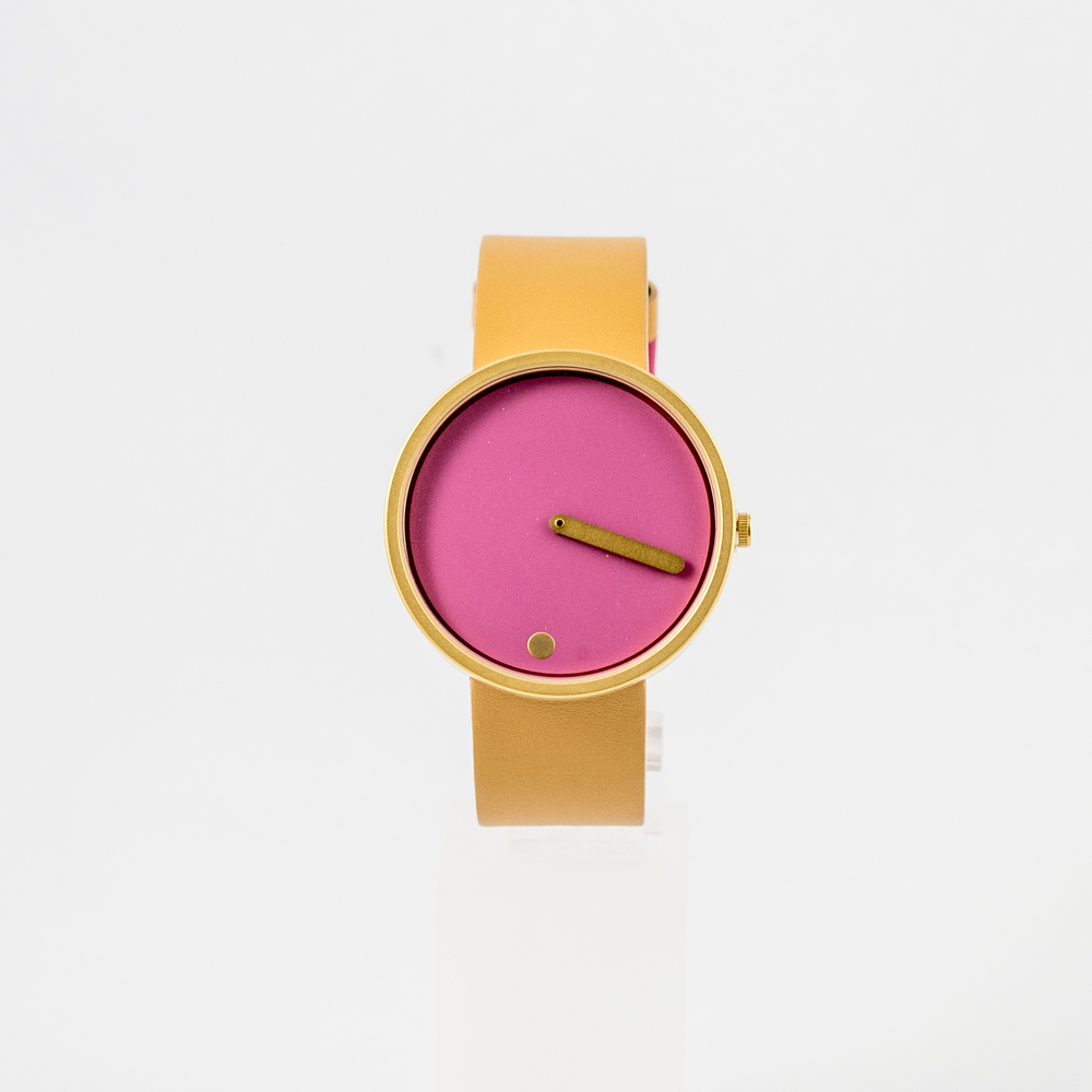 Picto Watch Dusty Pink & Tan with Leather Strap £125.00