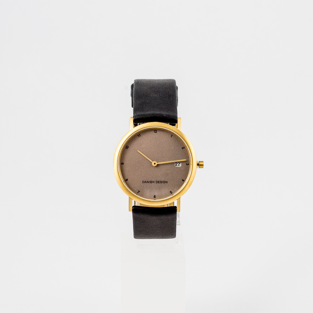 Danish Design Watch Bronze Face with Black Leather Strap £105.00