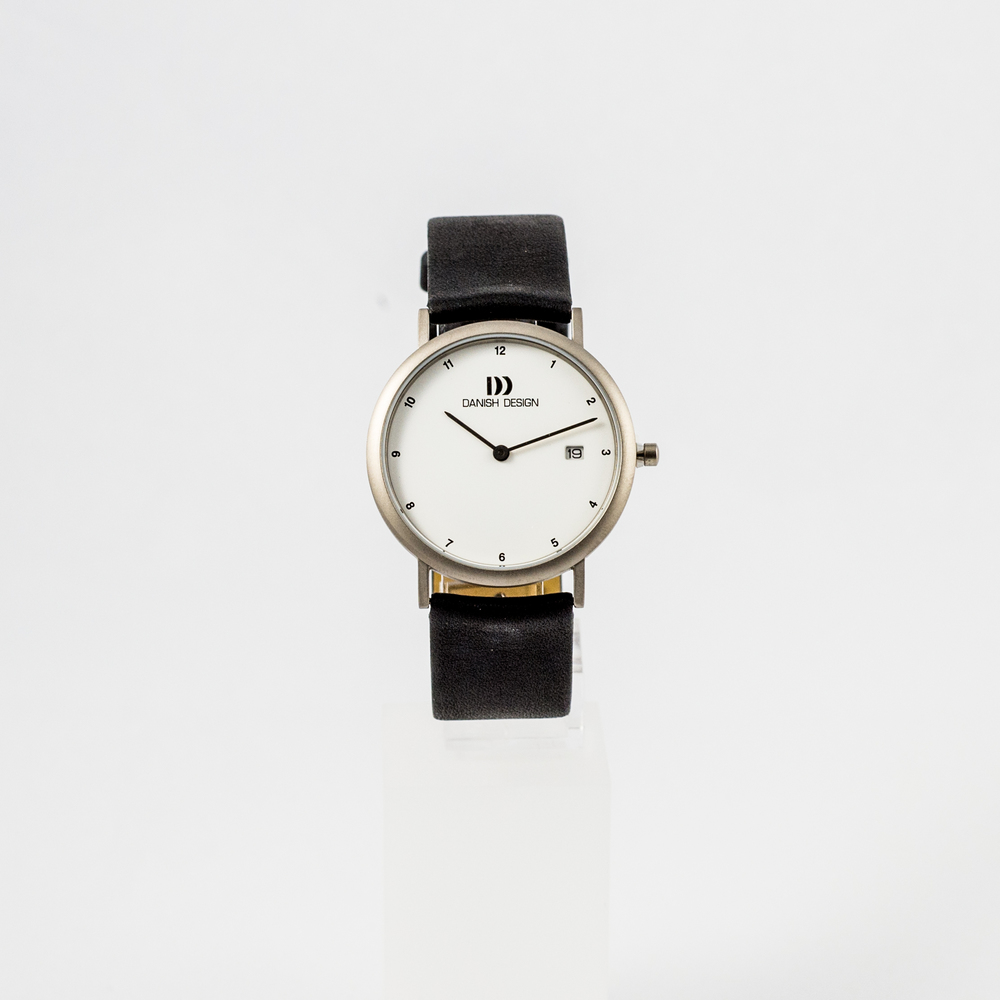 Danish Design Watch Silver Face with Black Leather Strap £105.00