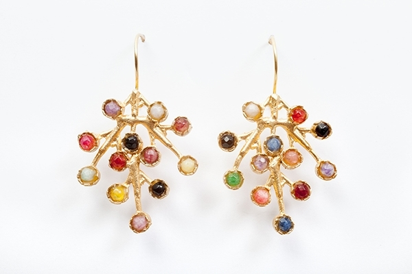 Multi stone Tree Shaped Earrings  £50.00