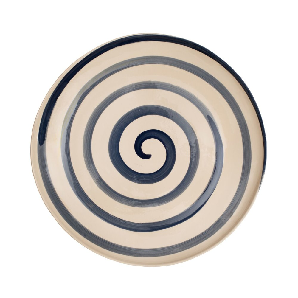 Dark Blue Spiral Plate £TBC