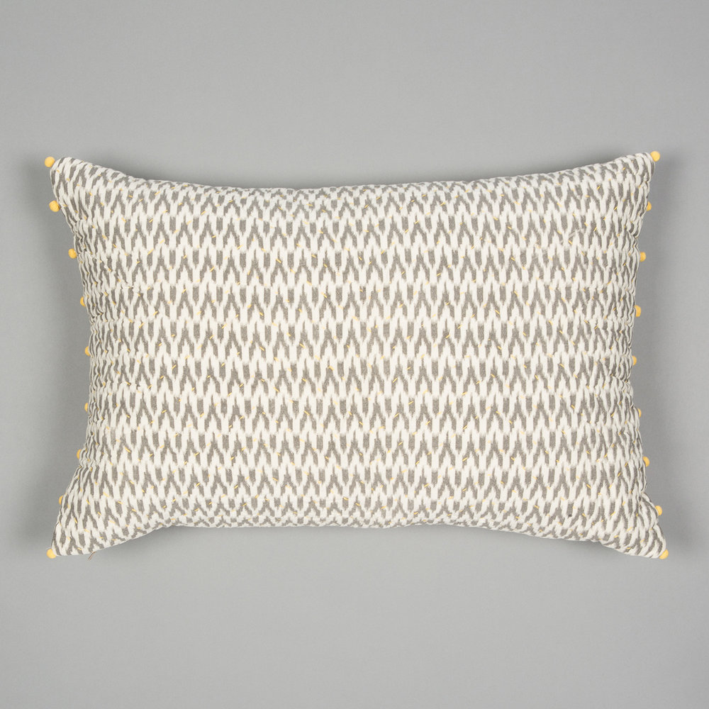Grey & Ecru Ikat Cushion  £55.00