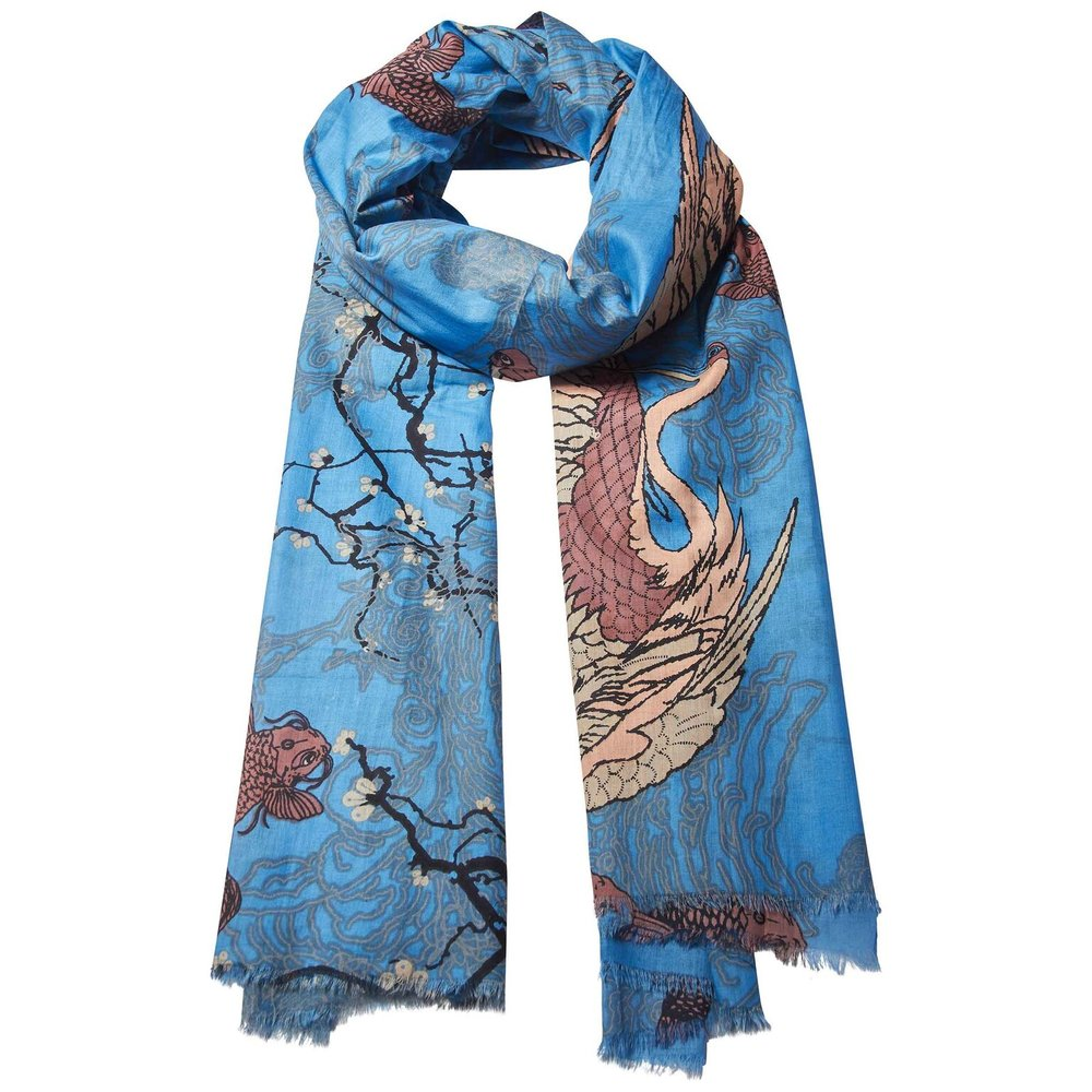 Blossom Scarf 100% Cotton  £42.00