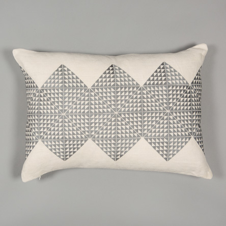 Cream & Grey Feather Filled Cushion  £115