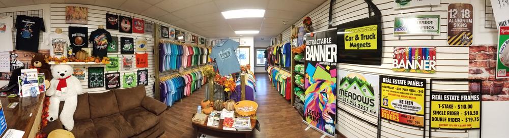 Farmboy Graphics showroom in Auburn, NY