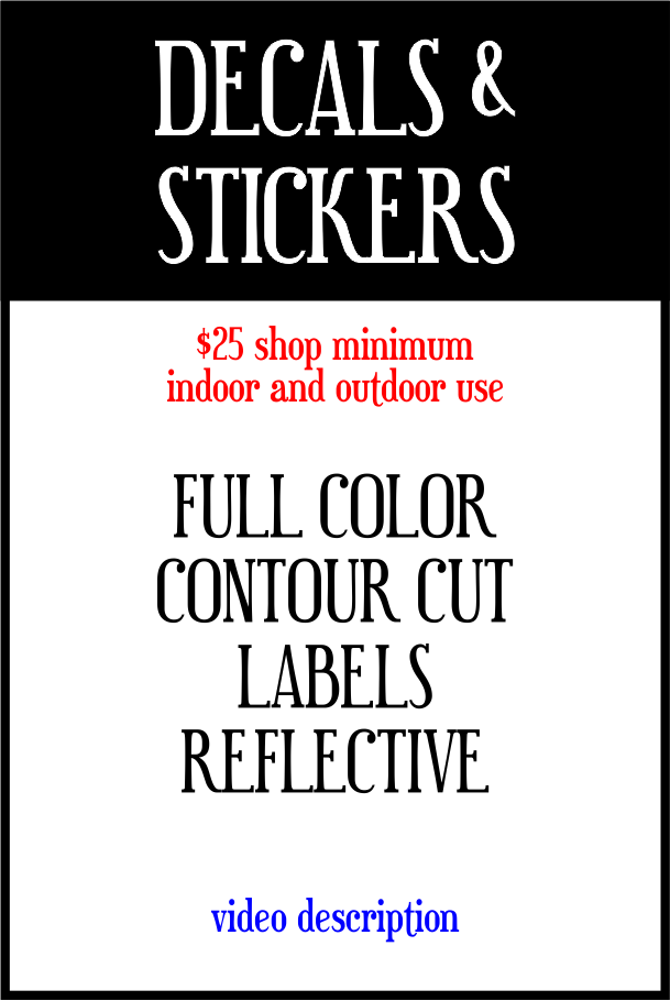 Full Color banners of any size. Available single & double sided. Always hemmed and grommeted.