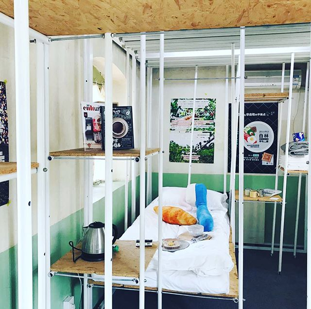 Collaborated with the lovely people from TTG for this year's Beijing Design Week to bring specialty coffee into their creative modular living space. Three pairs of participants were chosen to spend a lazy morning lounging about and enjoying our coffee and breakfast in bed 💤 ☕️ #bjdw #livingroombj #cafe #china #coffee #creative