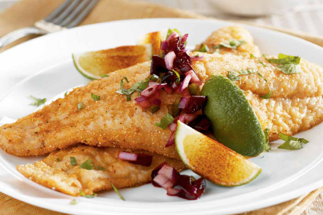 Catfish with Cherry Salsa