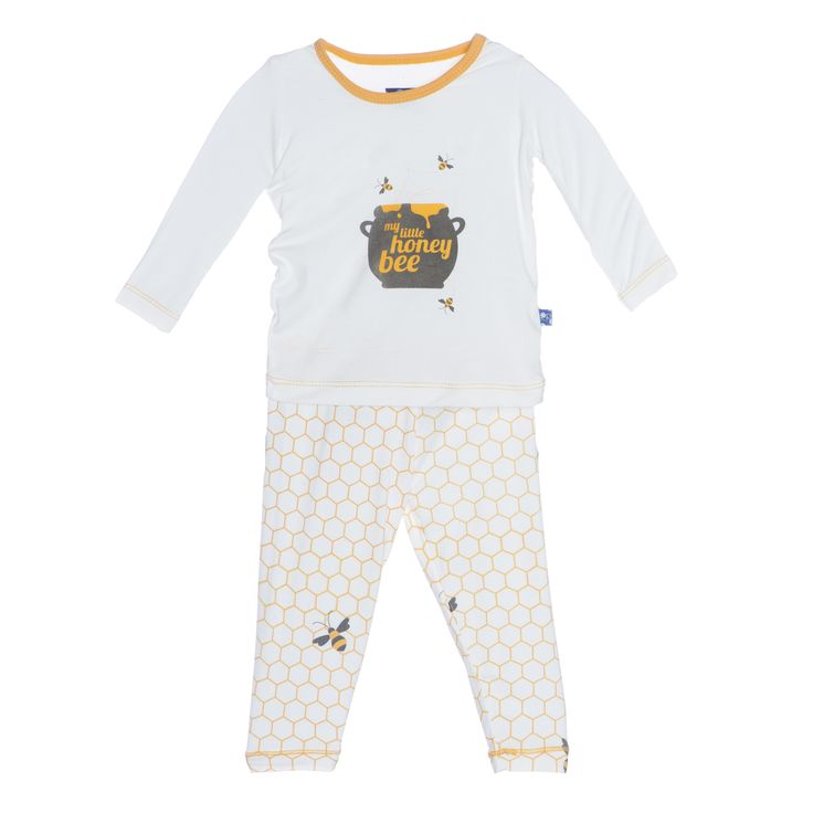 b3e1e9b83 Alice & Hamish | Children's BoutiqueNatural Honeycomb 2Pc. KicKee Pants PJs