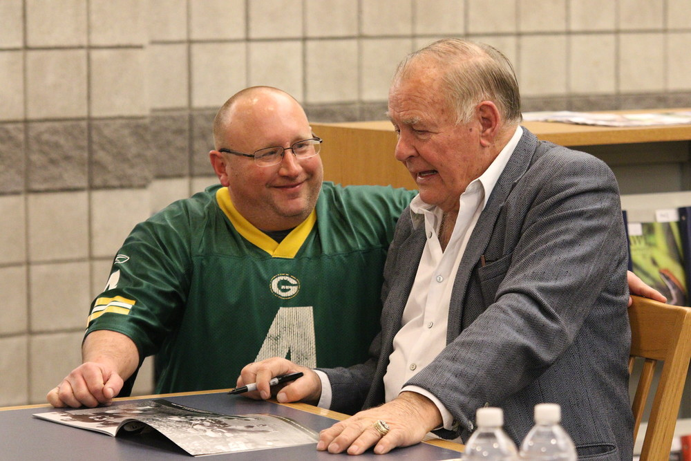 Photo Credit Eric Thompson   Close up and personal with a living legend...Jerry Kramer.