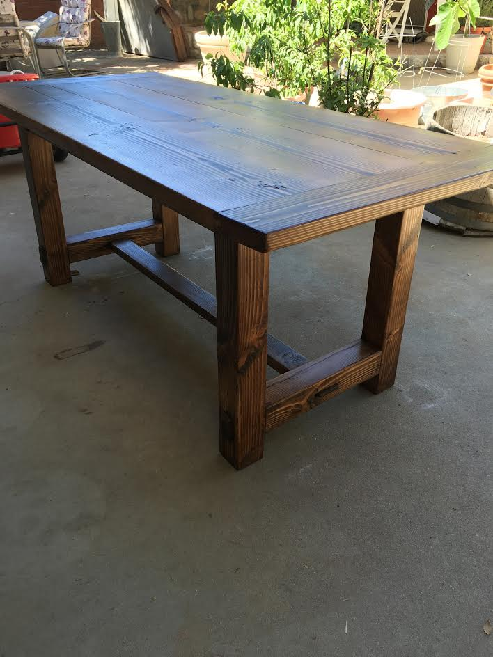 Read about how Pat built this custom Farmhouse table here!