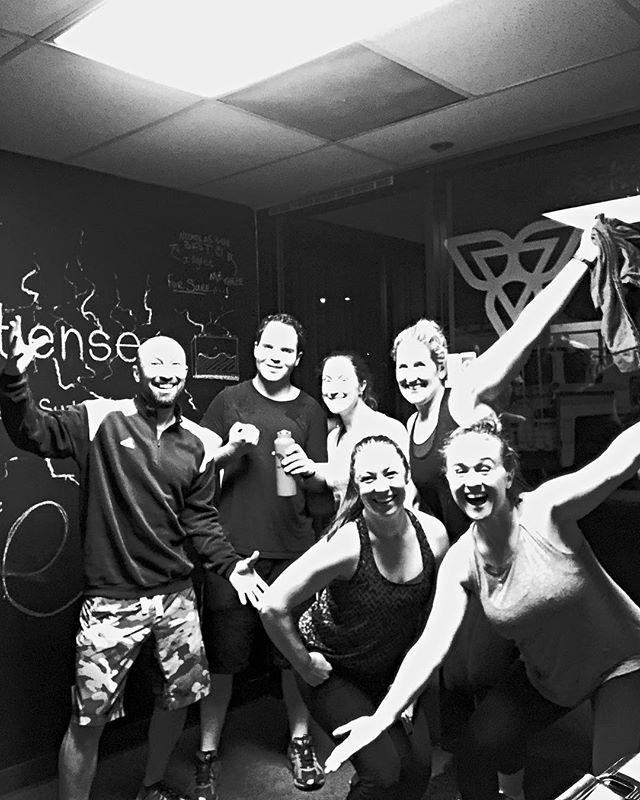 Our first workout of 2018 was all pull-ups. I'm actually surprised we could lift our arms up in this photo.....because we were all dying the entire class! #livebetteratthestudio #gymfam #weareglowing