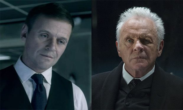 40 years younger Anthony Hopkins.