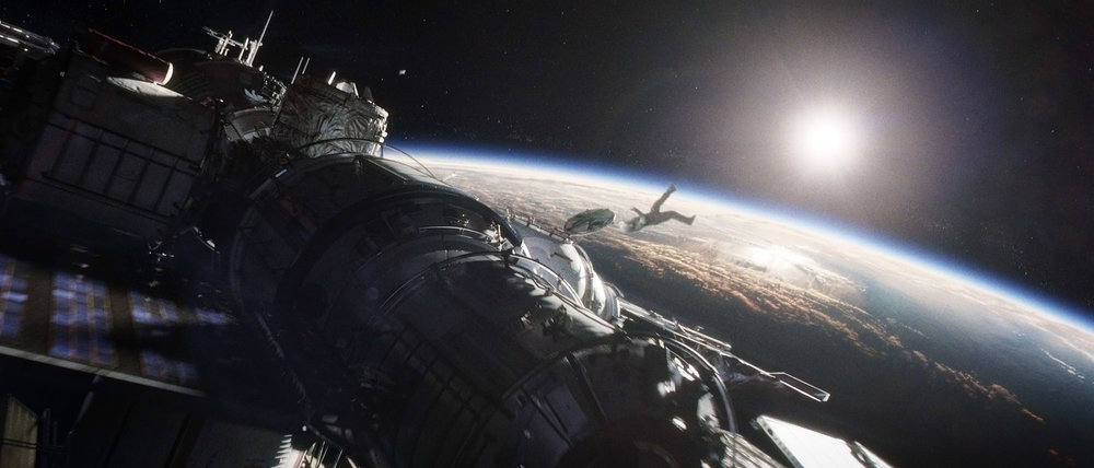 A still from the movie Gravity
