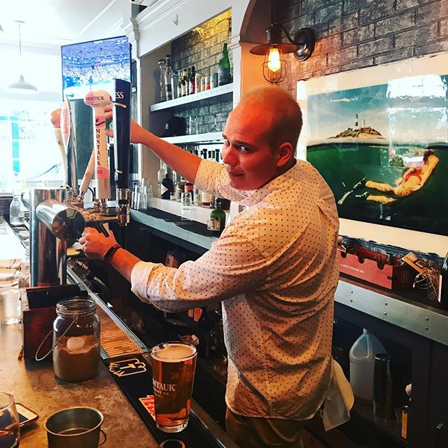 Danny babes is pourin beers! Come on down for some live music and cold beers! #montauk #saturdaynight #dannybabes #beer #livemusic #fun #thirsty @bogenation @peroniusa @montaukbrewco