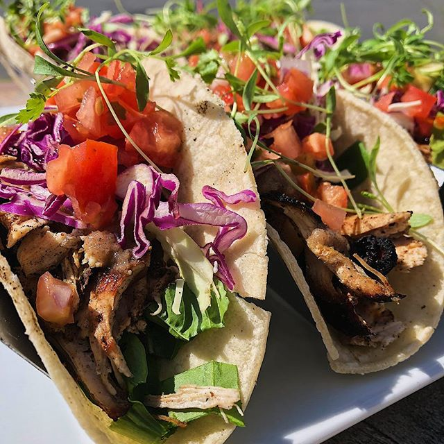 Tacos tacos! Sunday funday at the Saltbox. Football and golf all day! #montauk #lunch #food #foodporn #sundayfunday #football #golf #tiger #hungry #tacos