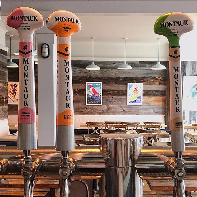 Montauk Montauk Montauk! Who's thirsty for the local brew? Open all weekend with live music #montauk #beer #montaukbrewingcompany #ipa ##pumpkinale #pumpkinspice #pumpkin #watermelon #coldbeer #hamptons #thirsty #happy