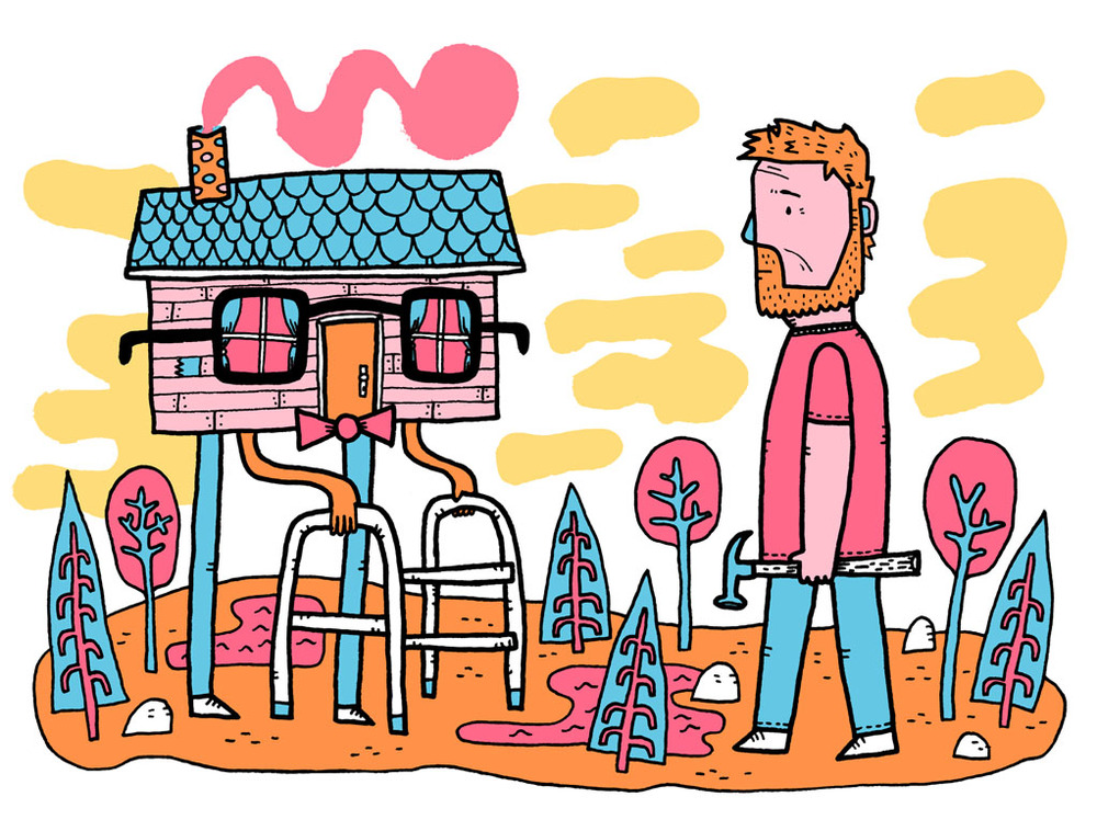 Cottage Life,  Summer 2013   David Zimmer column about   the frustrations of maintaining an over-the-hill cottage.