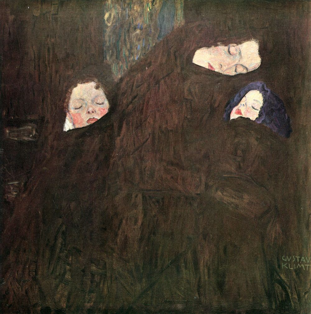 """""""Mother with Daughter"""" by Gustav Klimt, circa 1909-1910"""