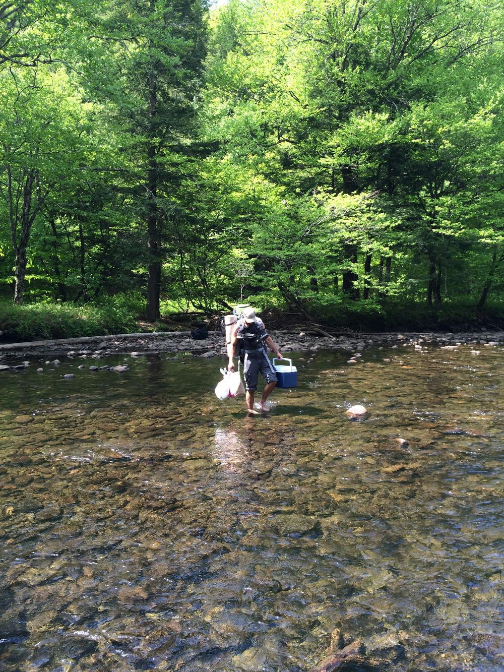 Crossing Catskill River NY