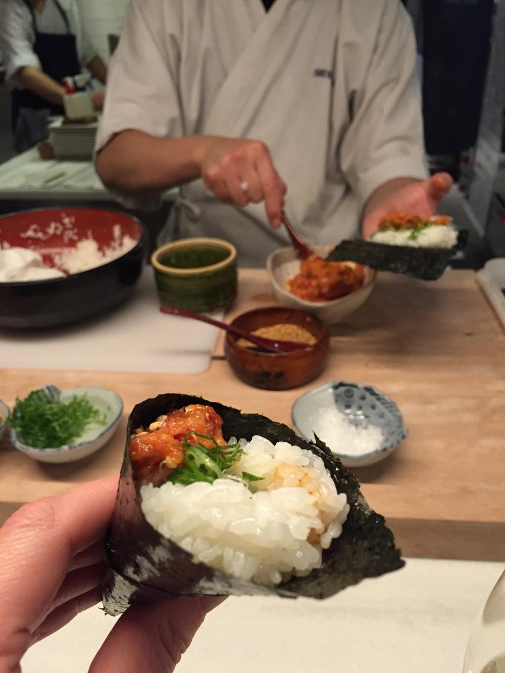 Spicy-Tuna Temaki