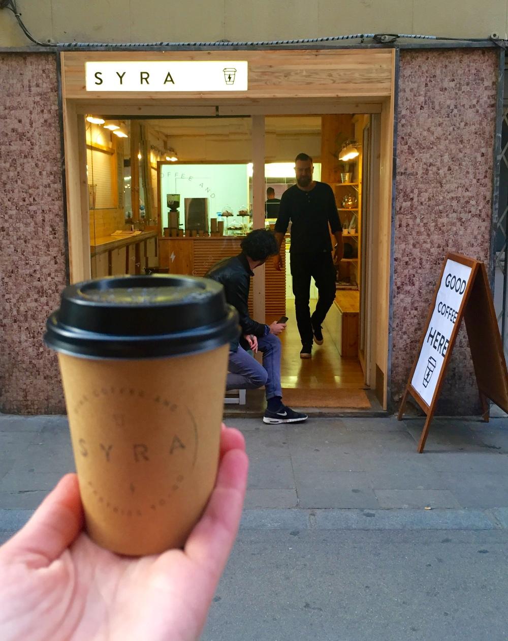 SYRA coffee in Gràcia