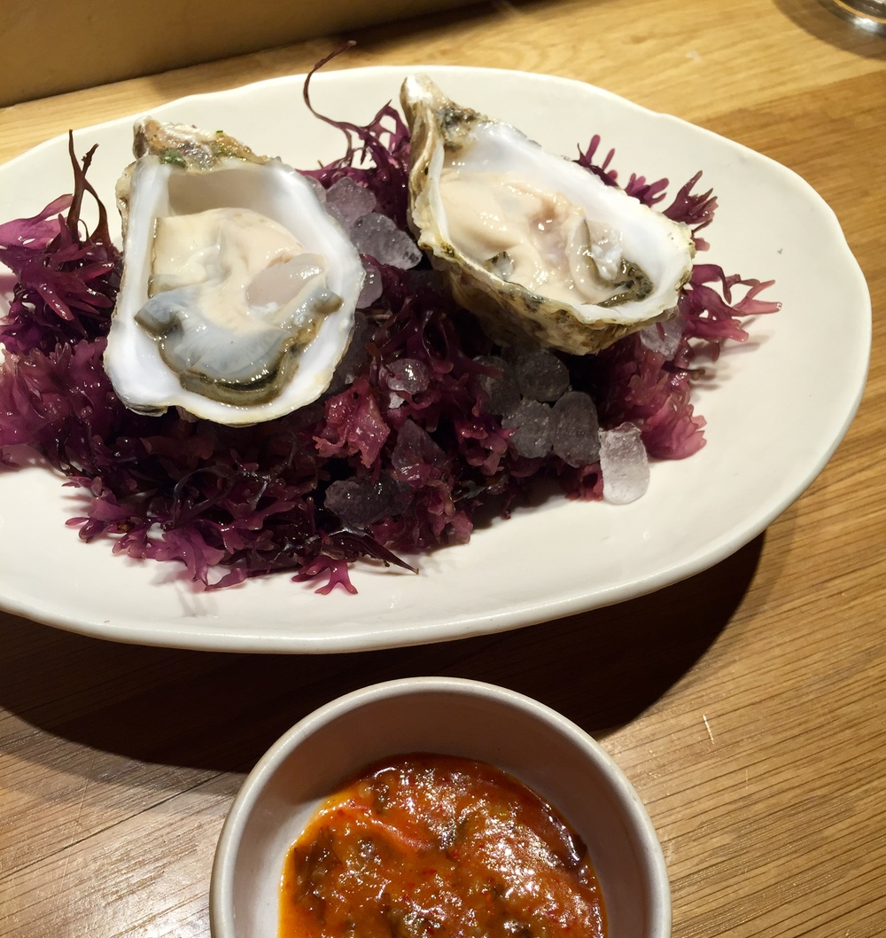 Oysters with Kimchi