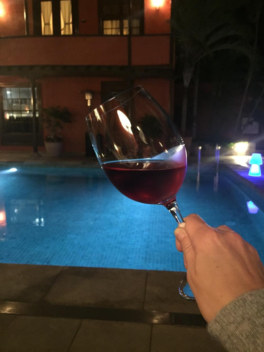 Pool area at restaurant Anturium, Hotel San Roque
