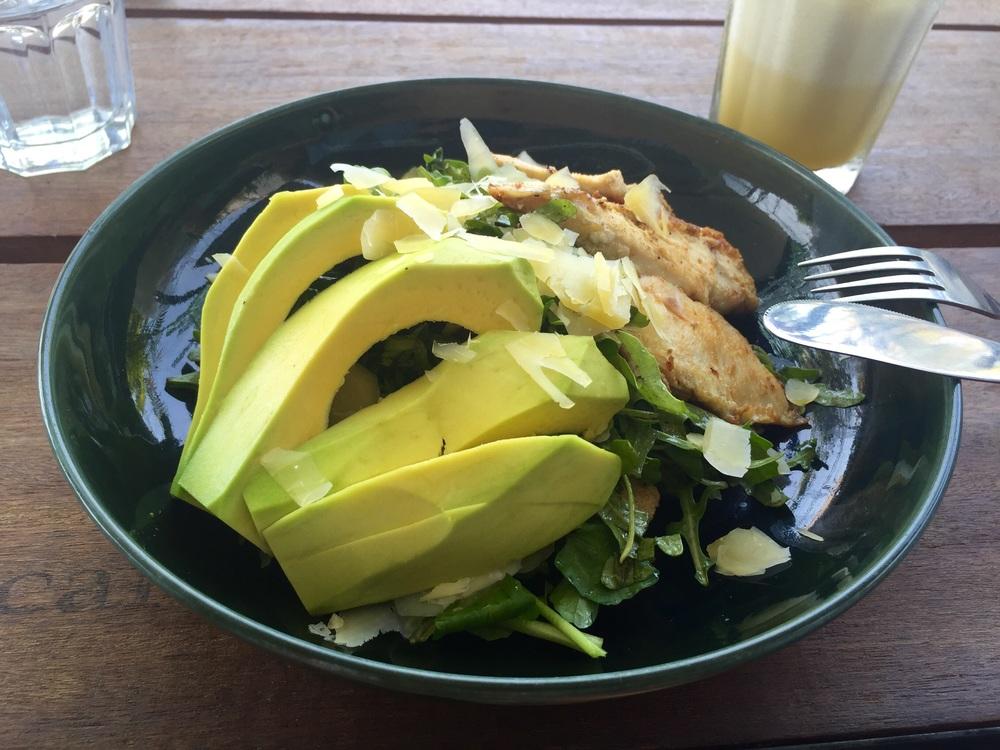 Avocado and chicken salad
