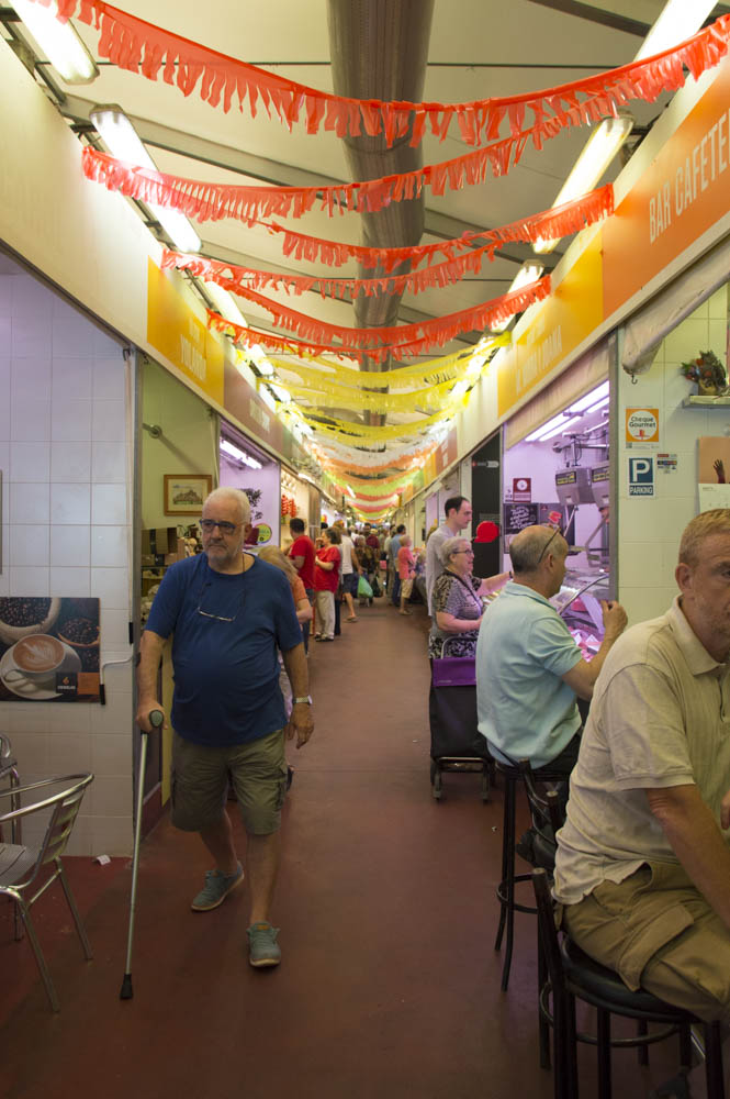 The temoprary Sant Antoni food market - part of the Barcelona Eat Local food tour