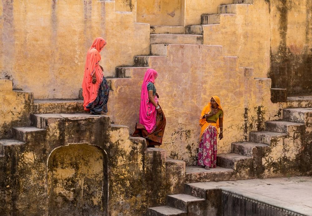 At the stepwell, near Jaipur