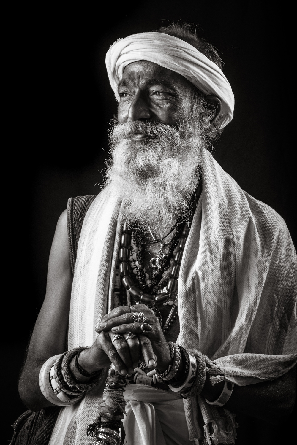 This Sadhu was lit by an SMDV Alpha 110 Softbox with a Bowens mount (available in Europe through  this reseller ), attached to my Jinbei HD 600. The rim light was created by a Cactus RF60, fired through a  gridded SMDV 70 Speedbox .  FUJIFILM X-Pro2 | XF50-140mmF2.8 R LM OIS WR @ 129.2 mm | 1-250 sec at f - 8,0 | ISO 400