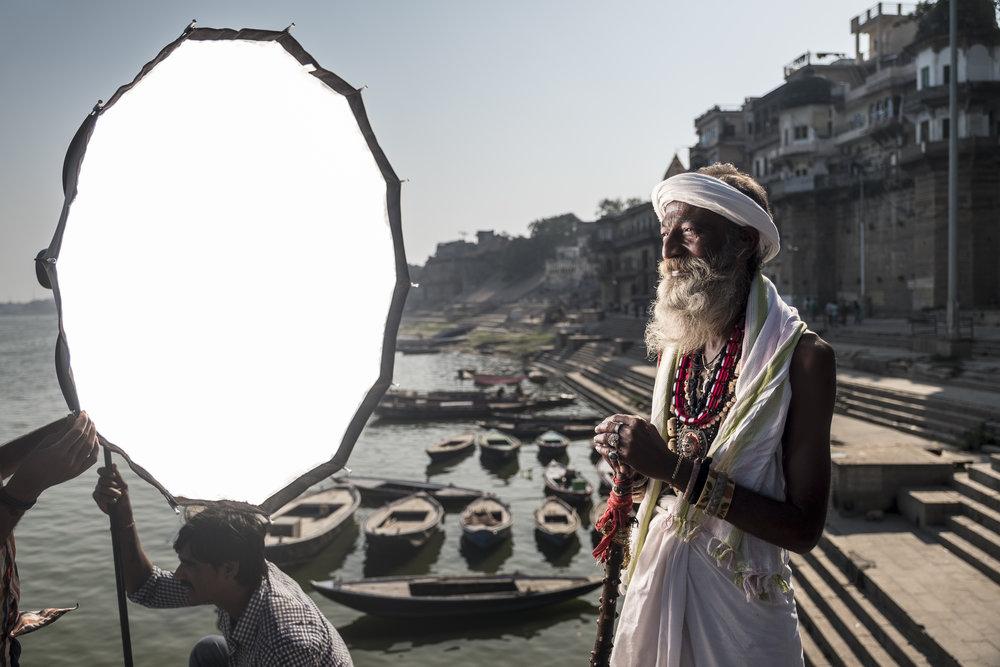 'Short lighting' met een gratis contourlicht van de felle Indische zon. Twee mooie lichten voor de prijs van één.
