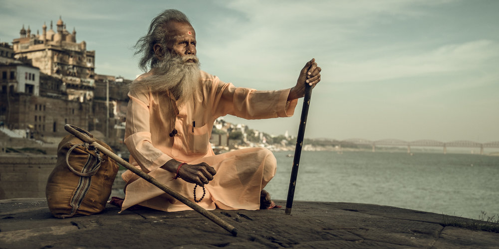 Copy of Sadhu overlooking the Ganges