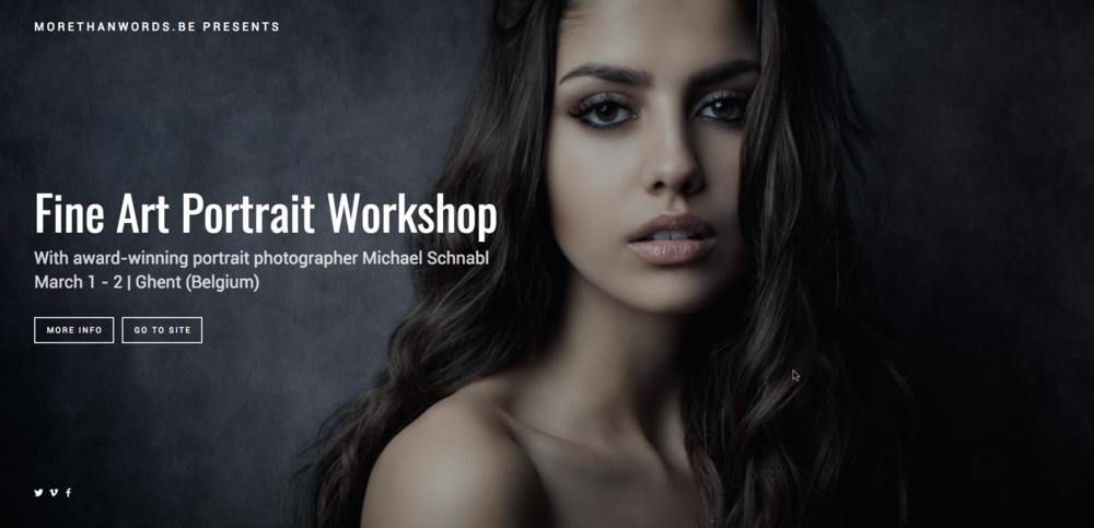 The  Fine Art Portrait Workshop  is an in-depth, hands-on two day workshop in which you'll be producing portfolio-worthy images and learning lighting and postprocessing skills that you can use in your own portrait work.