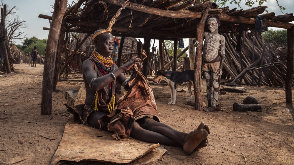 Je zal ook het leven in de dorpen fotograferen...