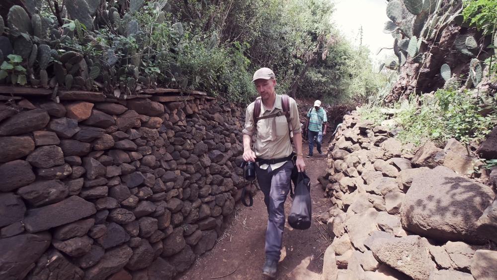 Op weg naar het Konso dorp...