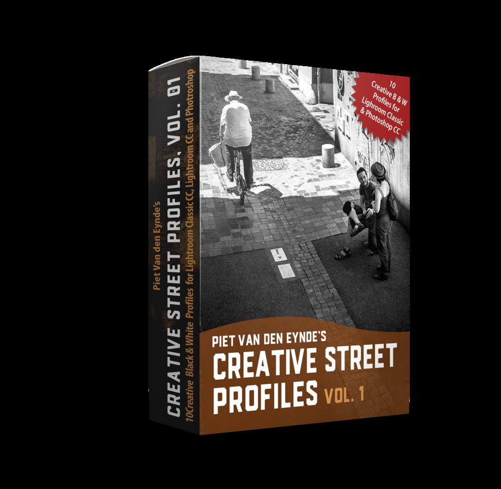 Mijn nieuwste 'Creative Street Profiles Pack'… - ✔︎ inbegrepen in de Deluxe en Ultimate Edition van '101 Tips voor Straatfotografie' (normale waarde € 19.95)✔︎ Converteer je straatfoto's naar pakkend zwart-wit met één druk op de knop✔︎ 10 Zwart-Wit Creative Profiles voor Lightroom Classic CC, Lightroom CC en Photoshop CC✔︎ Honderden variaties via Lightroom's 'Amount' schuifregelaar: bepaal zelf de sterkte van het effect
