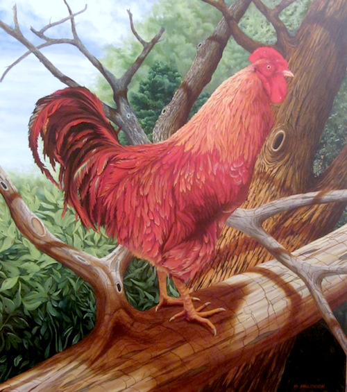 "Forest Griffin  Oil on canvas  54"" x 48"""