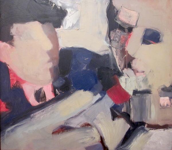 """Double Portrait  Oil on panel  22"""" x 25"""""""